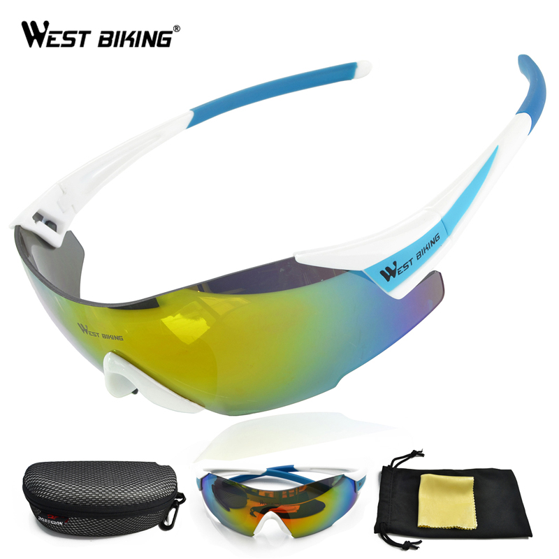 WEST BIKING Cycling Sunglasses Tactical Glasses Windproof Gafas Ciclismo Oriange Box MTB Bike Bicycle Cycling Glasses Eyewear west biking bicycle riding glasses polarized glasses mountain bike outdoor sports equipment prescription windproof glasses