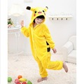 Children Pokemon Pikachu Flannel Animal Pajamas Onesie Kids Girls Boys Warm Soft Cosplay One Piece Sleepwear Halloween Costumes