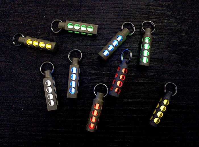 Cylinder Copper Tritium Gas Tritium Lamp EDC Fluorescent Key Ring Pendant Signal Light EDC Multi Tools