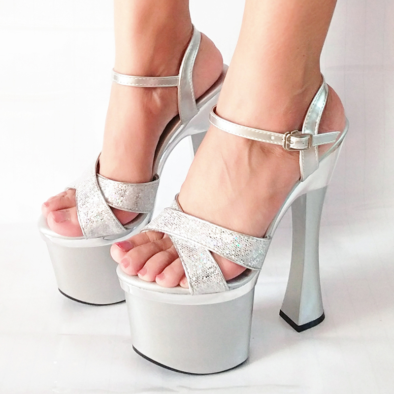 Plate Cm 18cm Noir 18 Heel Toe Chaussures Sandales Haute Talons Ybm7gvf6Iy