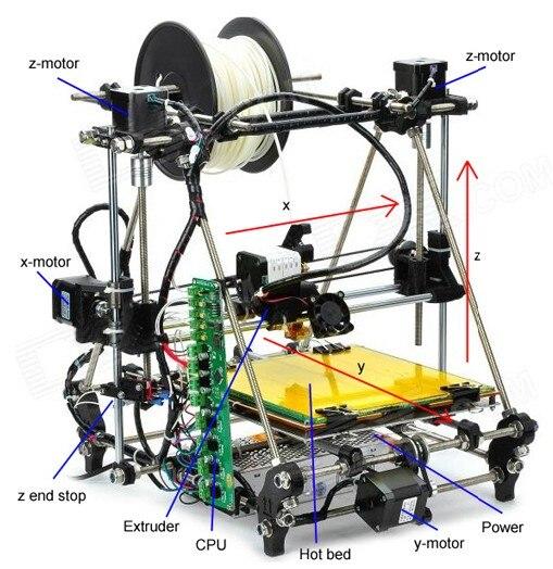 Prusa Mendel 3DP01 RepRap open source font b 3D b font font b printer b font