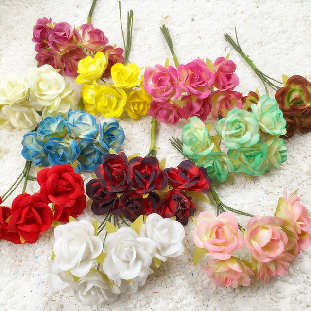 6pcs diy mini silk artificial flowers bouquet for home wedding party 6pcs diy mini silk artificial flowers bouquet for home wedding party wedding car decoration scrapbooking mightylinksfo