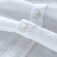 Men's 100% pure linen long-sleeved shirt men brand clothing men shirt S-3XL 5 colors solid white shirts men camisa shirts mens