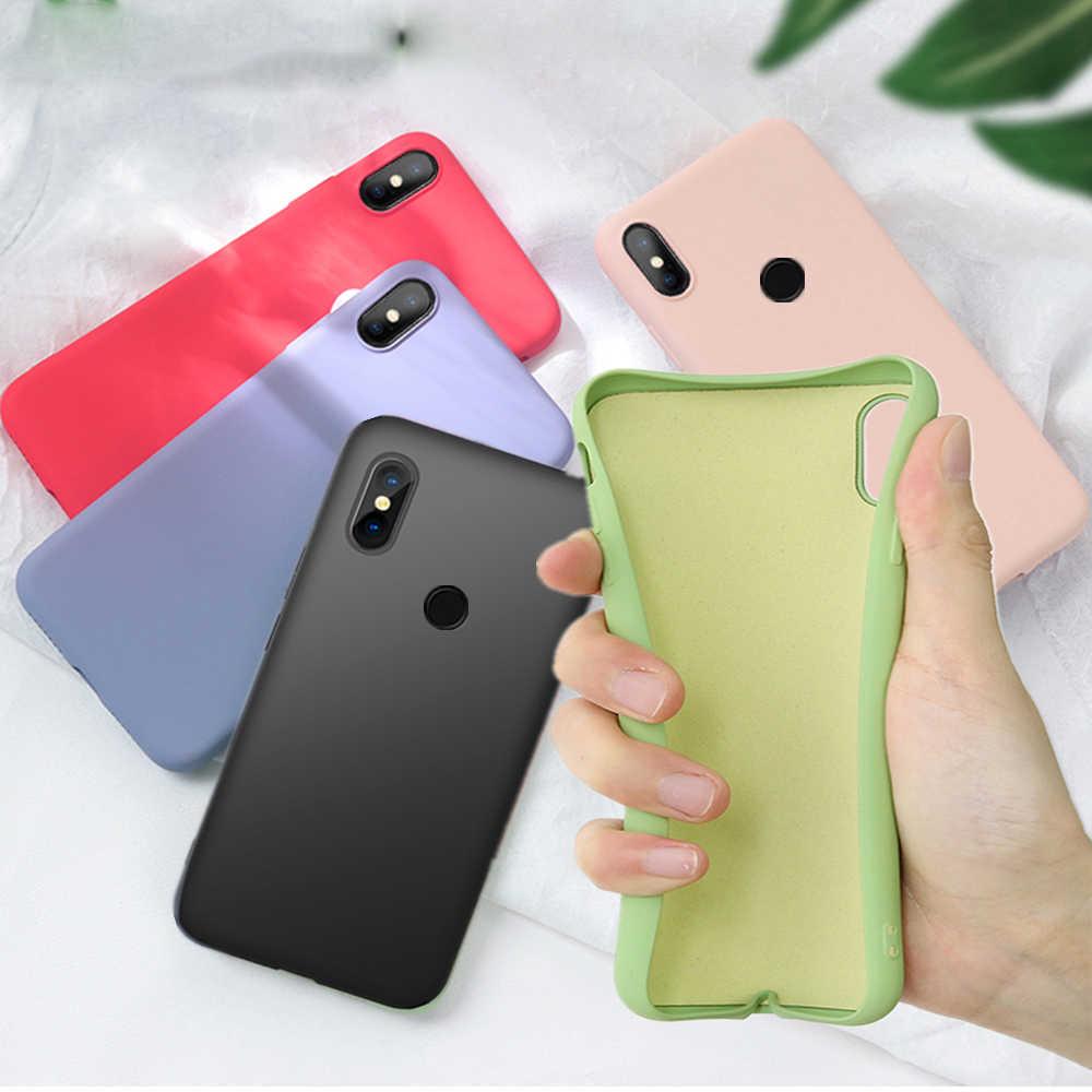 Funda Original de silicona líquida para Xiaomi mi 9 SE 8 Lite A2 mi X 2 3 2S 6X mi Play fundas suaves delgadas rojo mi Note 7 6 Pro 6A CC9