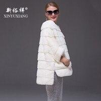 19 цветов 2018 Новый реального норки пальто для женщин Long Бат рукавами Полный Пелт теплый натуральный мех из натурального меха зимняя куртка