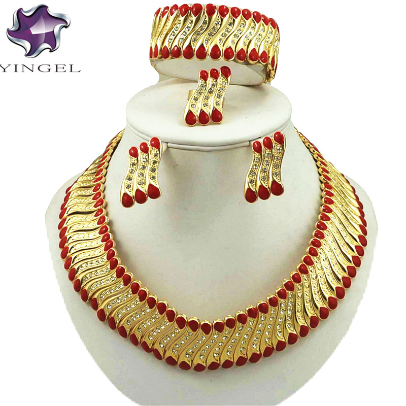 gold necklace jewelry sets fine jewelry sets  fashion jewelry set women necklace african bead jewelry