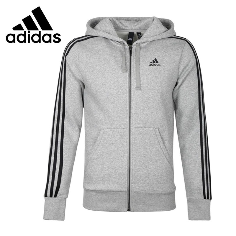 Original New Arrival 2018 Adidas  Performance ESS 3S FZ B Men's  jacket Hooded  Sportswear