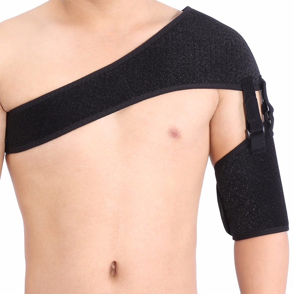 купить Adjustable Shoulder Joint Support Strap Arthritis Pain Relief Dislocation Rehabilitation Brace Shoulder Injury Protector Bandage по цене 611.3 рублей