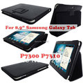 Folio Stand PU Leather Case For Samsung Galaxy Tab 8.9 P7300 P7310 + Free Screen Protector