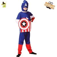 Unisex Kids Superman Costumes Hot Movie Captain America Superhero Show Suits Halloween Carnivai Party Hero Cosplay