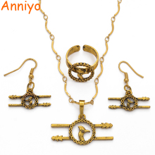 Anniyo (Black & Gold Color)PNG Ethnic Necklace & Earrings/Ring Jewelry Sets for Women,Papua New Guinea Wedding Jewellery #112706
