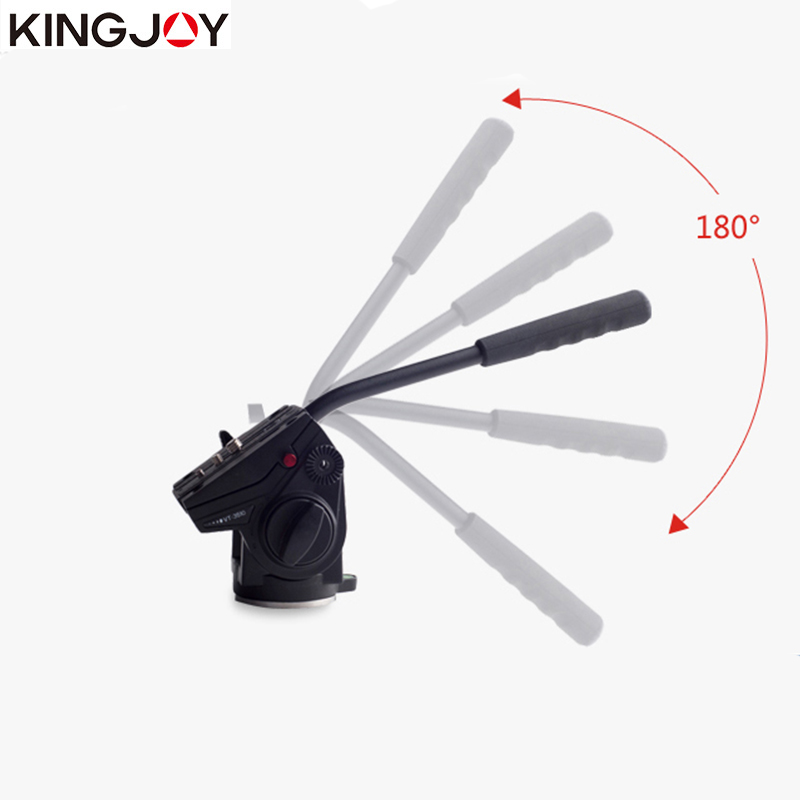 KINGJOY VT-3510 officielle tête de trépied panoramique tête vidéo fluide hydraulique pour trépied monopode support de caméra support Mobile SLR DSLR - 4