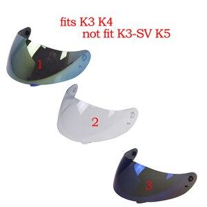 Image 5 - 1 Pcs Motorcycle Helmet Visor For K3 K4 Motorcycle Helmet Shield Parts Motorbike Helmet Lens Full Face Removable & Washable