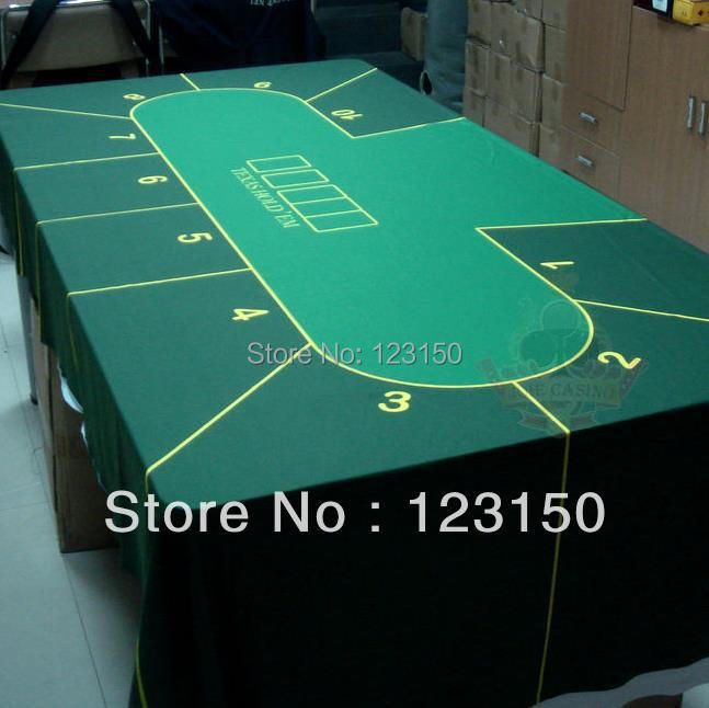 WP-002  Professional Water Resistant Poker Table Cloth,  Casino Layout Game Cloth 1PC