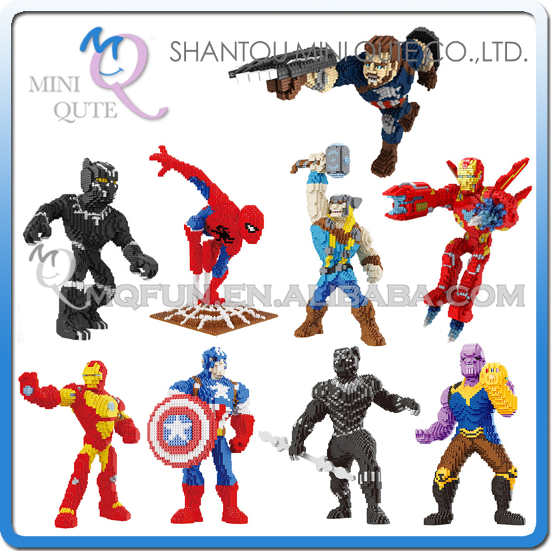 Mini Qute PZX movie avengers Spiderman thor Captain America Iron Man super hero building block figures boys educational gift toy изнер к дракон из трокадеро