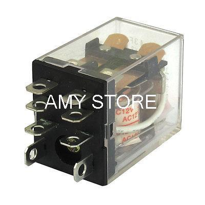JQX-13F HH62P LY2NJ DC 12/24V AC 12V/24/110V/220V Coil Red LED General Purpose Power Electromagnetic Relay DPDT 8-Pin