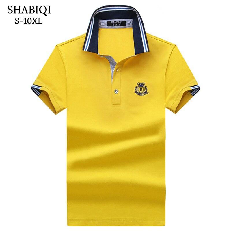 2018 Men's   Polo   Shirts Fashion Solid slim camisa   polo   Shirt Tops&Tees Brand Summer Clothing plus Size S-10XL
