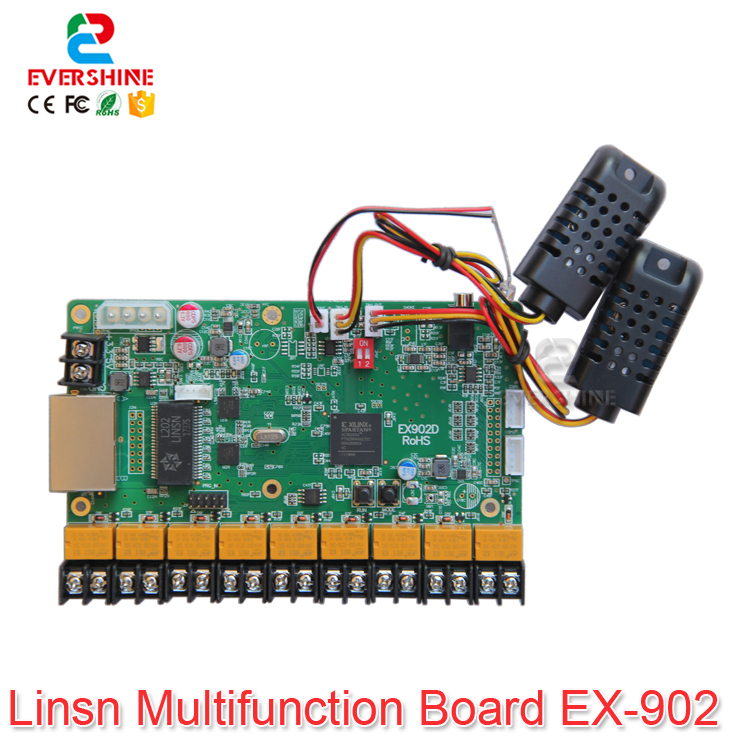 цена LINSN Card EX901 EX902 Multifunction Card Support Temperature Humidity Brightness Sensor LED Display Control Card