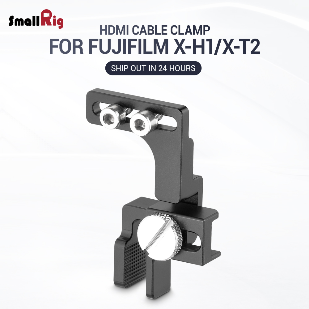 SmallRig HDMI Cable Clamp For Fuji X-H1 And For Fuji X-T2 Cage 2156