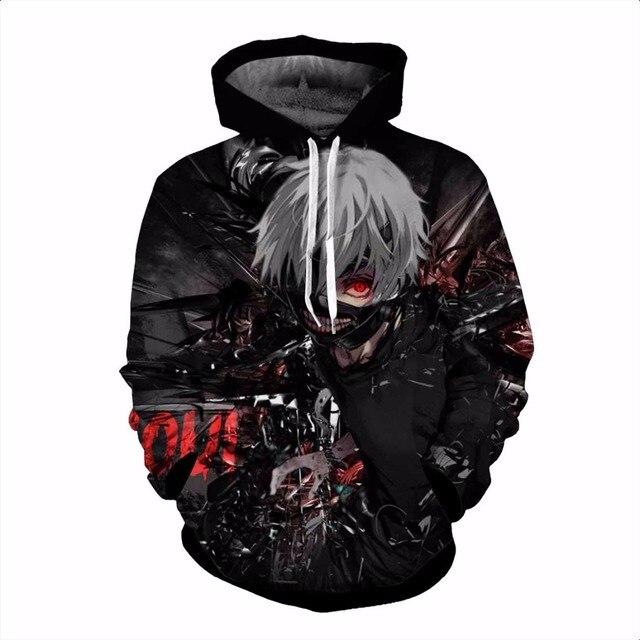 Tokyo Ghoul 3D Sweatshirt Hoodie