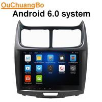 Ouchuangbo 9 inch car audio gps stereo navi for Chevrolet Sail 2010 2013 support wifi BT quad core android 6.0