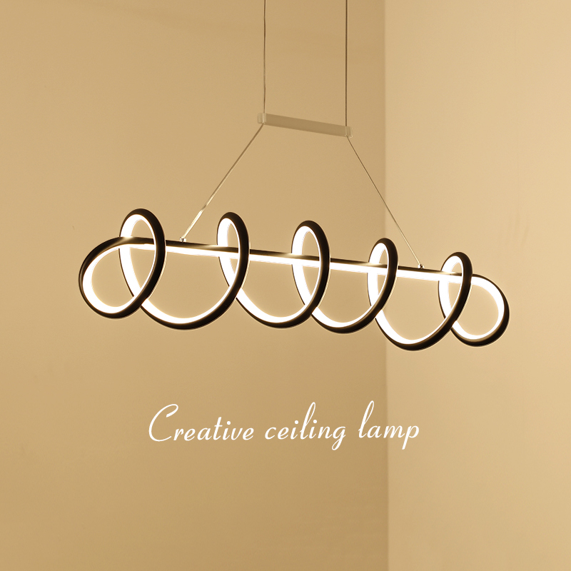White/Black Creative modern LED pendant lights L900/1200mm hanging pendant lamp for dining room living room kitchen AC85-265V a1 master bedroom living room lamp crystal pendant lights dining room lamp european style dual use fashion pendant lamps