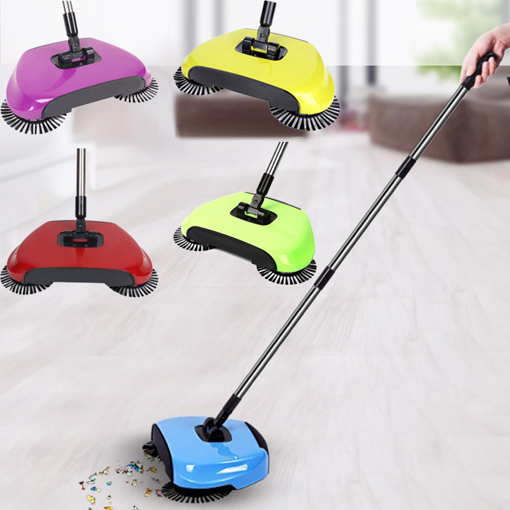 Household Stainless Steel Hand Push Dustpan Hand-Propelled Sweeper WST