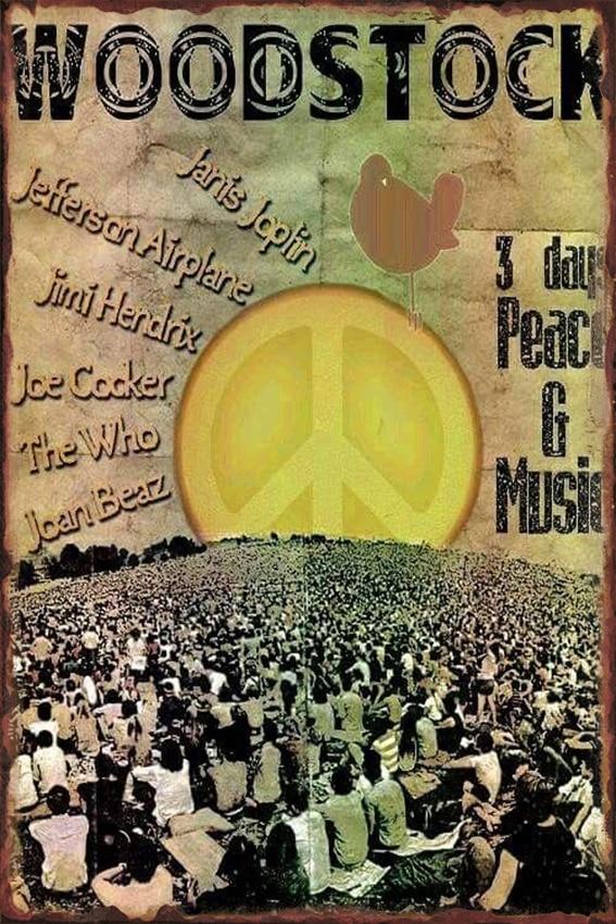 Vintage Home Decor  Woodstock Vintage Metal Signs Plaques & Signs Home Decor Metal Bar Poster Art Size:20*30cm