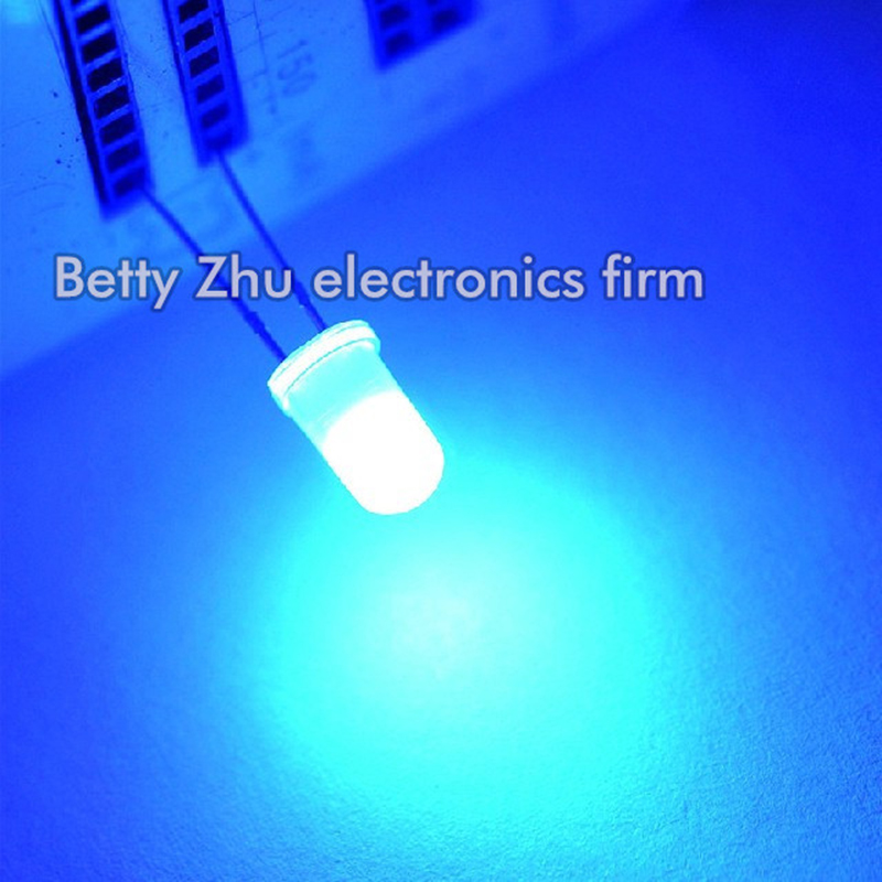 5000PCS LOT 5MM round blue light emitting diode LED blue shell glows blue light