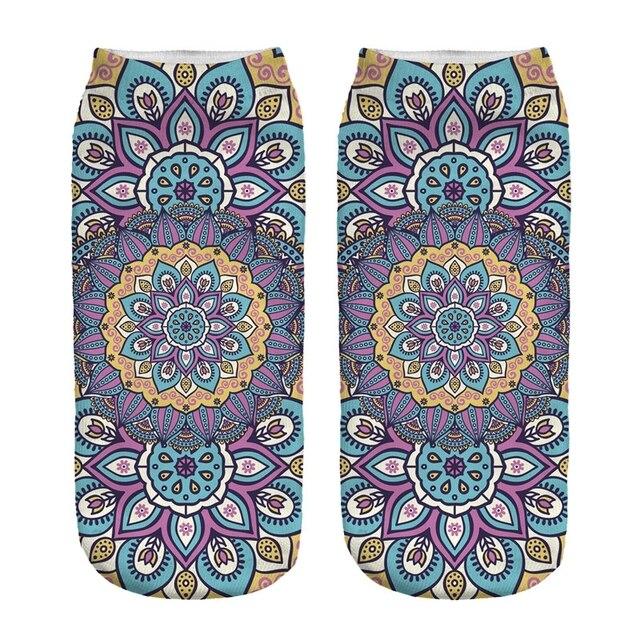 Women's Mandala Print Socks 3
