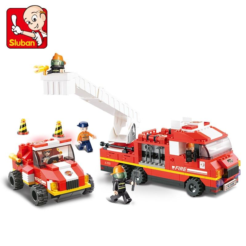 Sluban Model Building Compatible lego Lego B0223 368pcs Model Building Kits Classic Toys Hobbies Fire Department