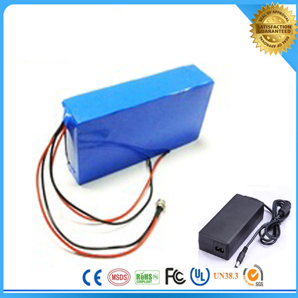 ebike 24V electric bicycle battery 18650 lithium ion rechargeable  battery 24v 6ah li ion battery pack with charger and bms
