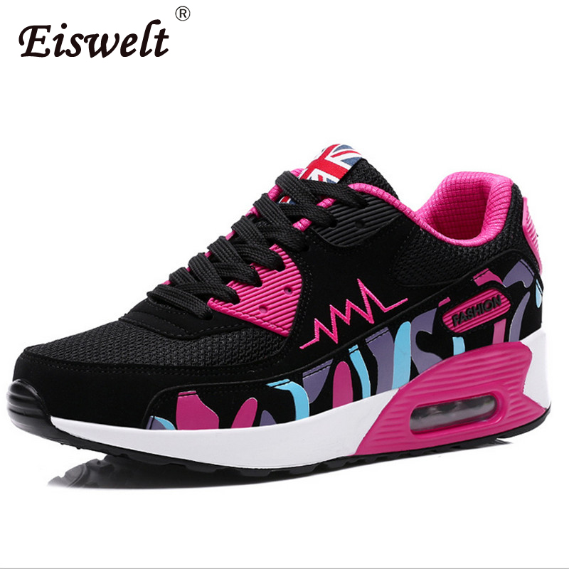New 2017 Fashion Flats Women Trainers Breathable Sport Woman Shoes Casual Walking Women Flats#SJL131 hot sale new 2017 fashion flats women breathable sport woman shoes casual outdoor walking women flats zapatillas mujer