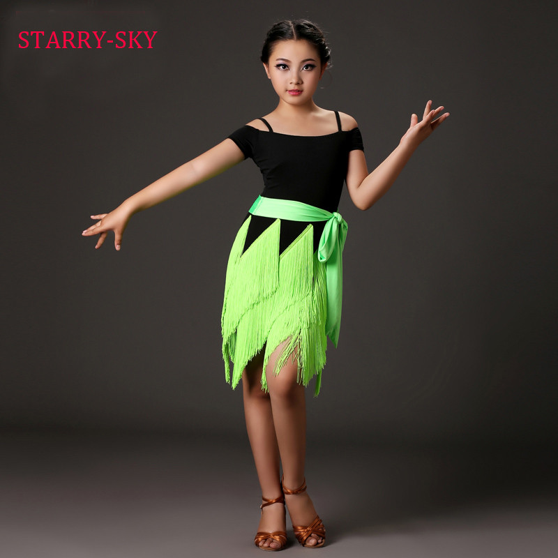 f6f4562886d1 Latin Fringe Dress Child Girl Dance Latino Dresses Kids Costume ...
