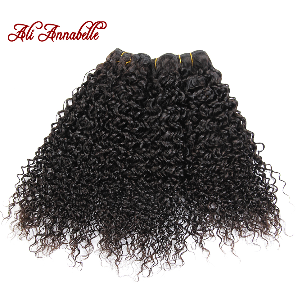 ALI ANNABELLE HAIR Malaysian Kinky Curly Hair Weave Bundles 100 Remy Human Hair Extensions 10 28