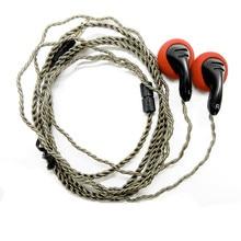 Newest FENGRU DIY PK2 In-ear Earphones Flat Head DIY Earphone HiFi Bass Earbuds DJ Earbuds Heavy Bass Sound Use For Smart Phone