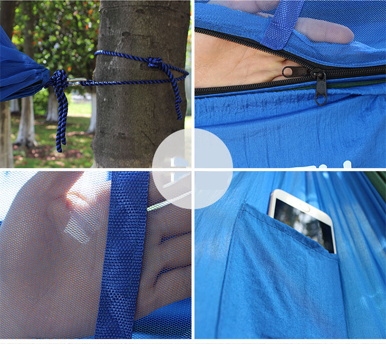 Hot 2019 outdoor wild Double parachute cloth hammock nets type safety from outdoor camping tourism mosquitoes