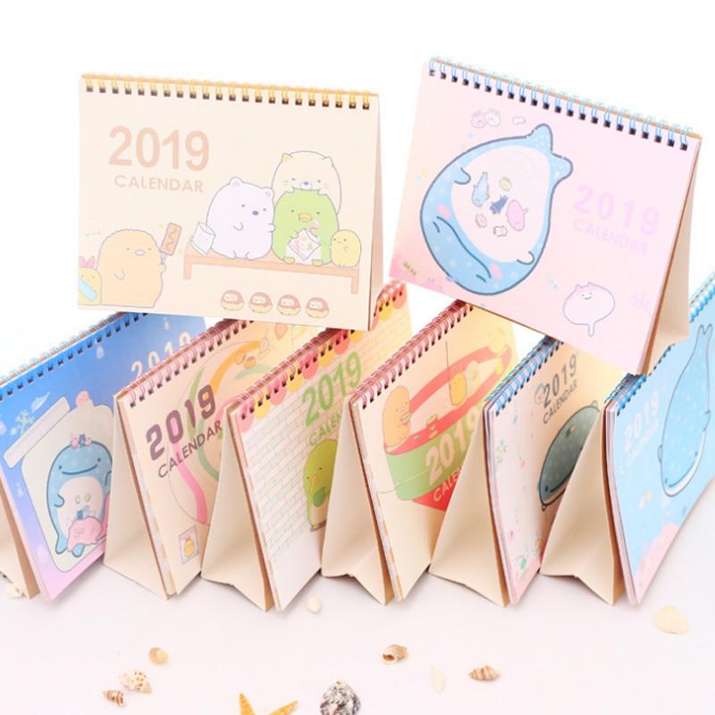 1 Stücke Nette 2019 Jahr Whale Tier Diy Große Desktop Papier Kalender Agenda Organizer Täglichen Zeitplan Planer Schreibwaren Geschenke Duftendes In Aroma