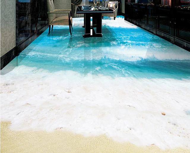 3d Fußboden Wolken ~ Schöne d boden tapete wandmalereien strand wellen bad fliesen