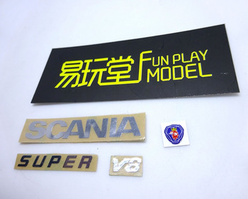 цена на R/C scania actros type logo and sign sticker kit for tamiya 1:14 scale rc scania truck r620 56323 r730 r470 tractor trailer
