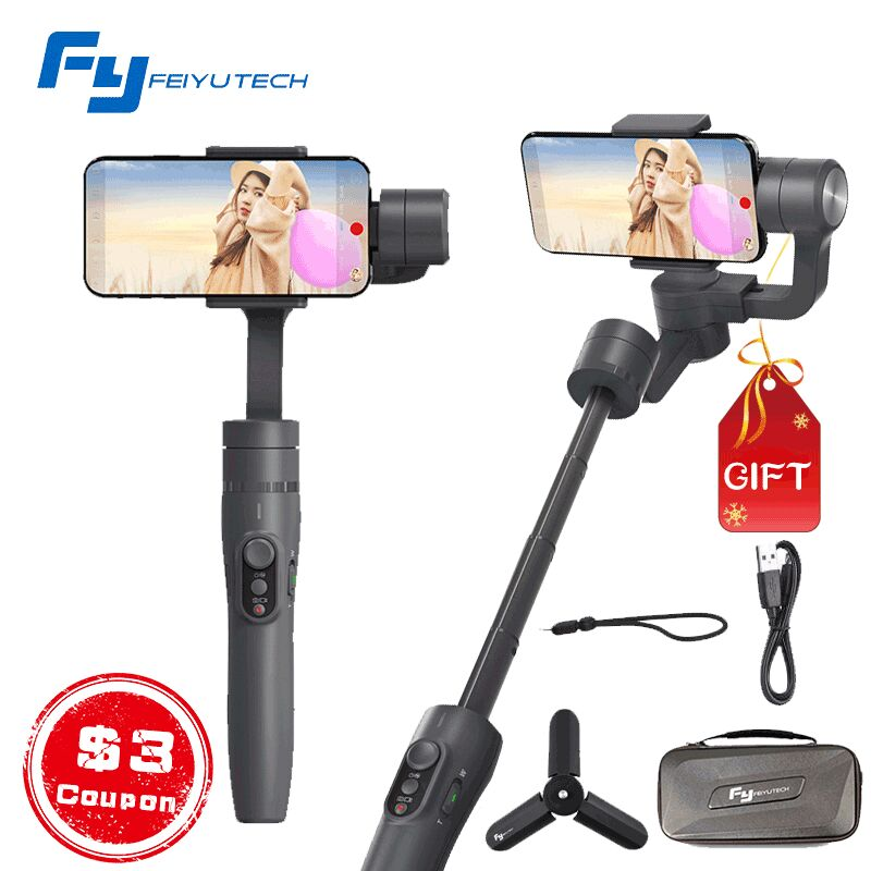 Feiyu tech Vimble 2 3-Axis Gimbal Smartphone Stabilizer with Extendable Handheld Remote Control PK DJI Osmo 2 Zhiyun Smooth Q 4