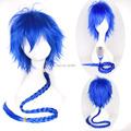 Magi The Labyrinth of Magic Aladdin Short Blue Ponytail Anime Cosplay Wig