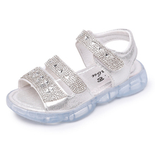 ULKNN Girls sandals childrens shoes 2019 new version of the summer fashion girl soft bottom Rhinestone little princess