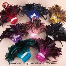100 перья для рукоделия шт./лот дешевые перо фазана,13-20cm, натуральный цвет Петух Перья куриное перо ювелирные изделия