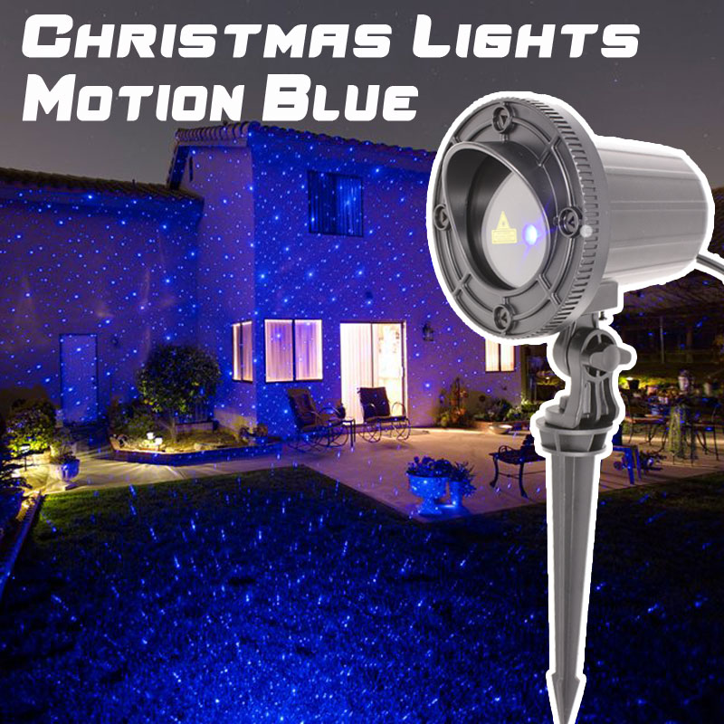 Christmas Laser Light Projector Outdoor Blue Motion Showers Garden Decorations For Home laser shower waterproof outdoor laser light projector christmas holiday twinkling star lights garden decorations for home