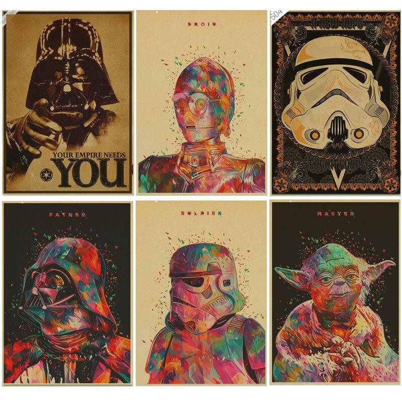 Classic film Star Wars Poster i want you Retro kraft paper movie ...