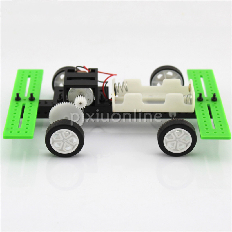 DIY Toys J272b High Speed Two Wheel Driving Model Car DIY Assemble Teaching and Experiment Using Sell at a Loss France