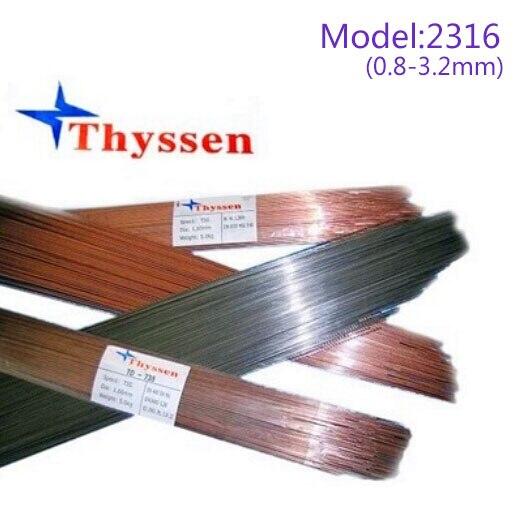 1KG/Pack Thyssen Mould welding wire 2316 for Welders (0.8/1.0/1.2/1.6/2.0/2.4/3.2mm) T012007 1kg pack gm mould welding wire trader 2344 pairmold welding wire for welders 0 8 1 0 1 2 2 0mm s012001