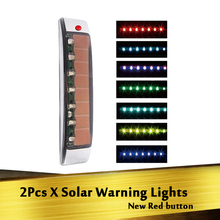 Solar Warning Lights Car Static Eliminator Anti-Static 8 Colors Light Magnetic Induction Car Side Decorative Lights Strobe Light keizik k a333 8 led shark gill solar side vent warning light black