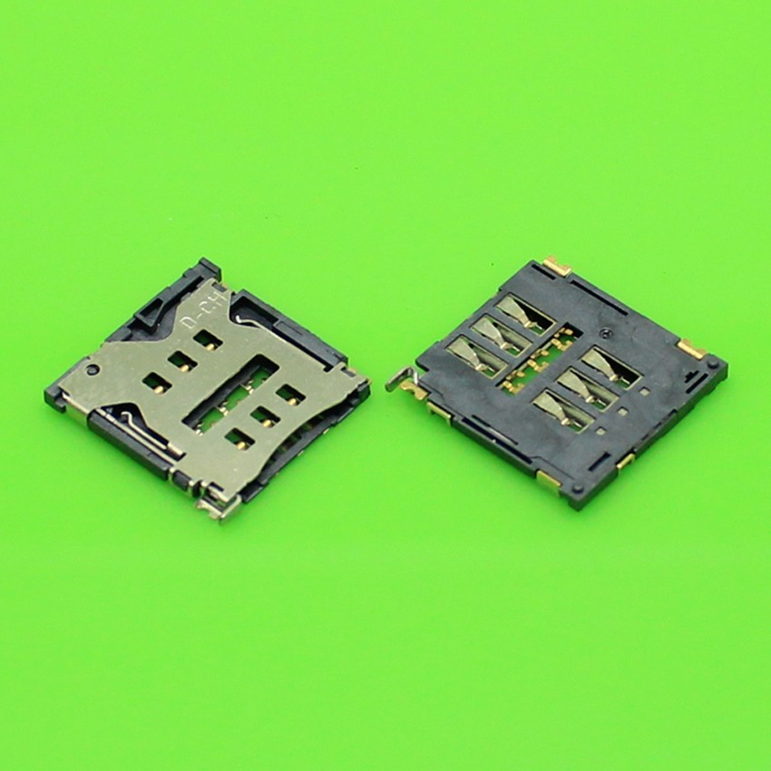 3pcs/lot New SIM card Socket reader Holder Tray Replacement for Goophone i6 plus copy clone for iPhone 6G 6 plus
